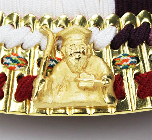 平安道斉作 本金箔押小札 七福神之兜飾り/寿老神