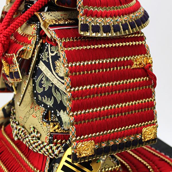 平安道齋作 8号純金箔押総裏白檀之鎧飾り横