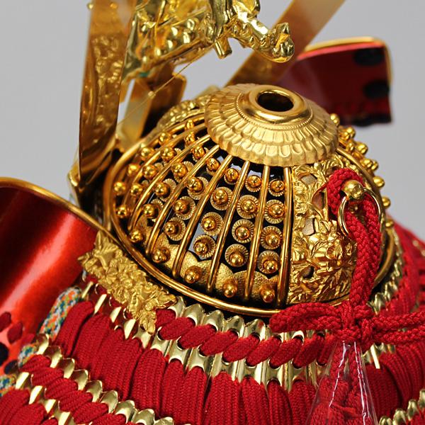 平安道齋作 8号純金箔押総裏白檀之鎧飾り兜鉢